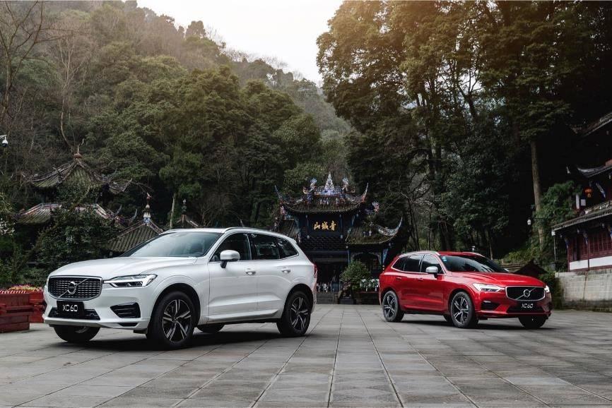 """沃尔沃在成都青城山举行""""远方不远""""为主题的XC60试驾便摆开了阵势"""