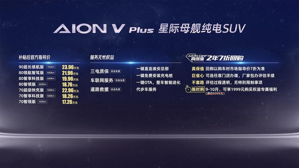 """星际母舰纯电SUV""AION V Plus上市,17.26万元起售464.png"