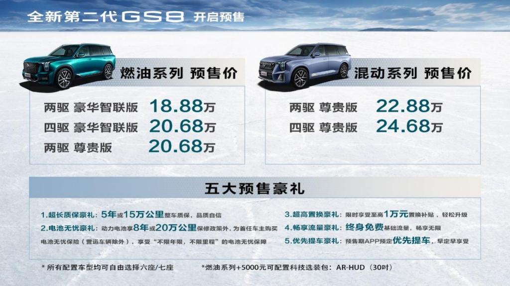 副本【新闻稿】媲美豪车的动控体验,全新第二代GS8 18.88万元开启预售299.png